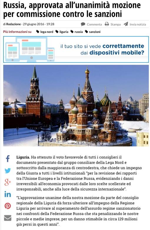 Скриншот на сайта genova24.it