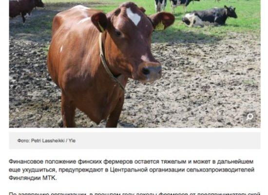 Fake: Finnish farmers losing out because of Russian sanctions