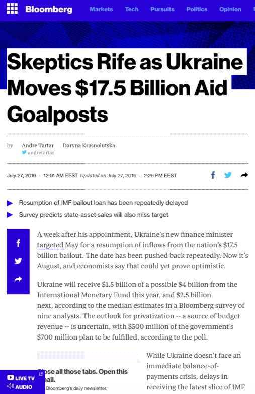 Website screenshot bloomberg.com