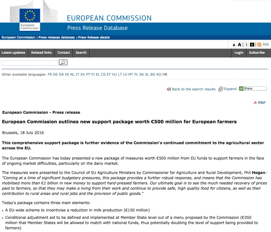 Website screenshot europa.eu