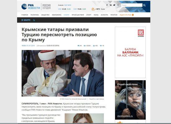 Fake: I Tatari della Crimea esortano la Turchia a riconoscere la penisola come parte russa