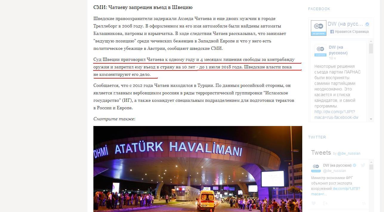 Скриншот сайта Dw.com/ru
