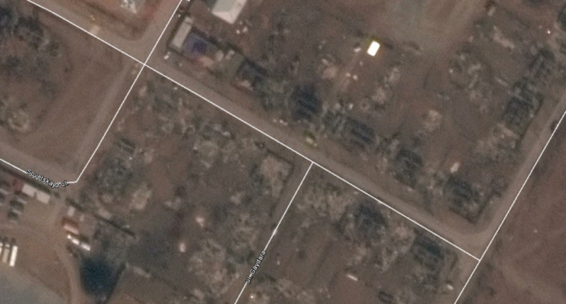 Figure 11: Screen capture from Google Earth of Mira Street in Shira, Khakassia, from April 15, 2015