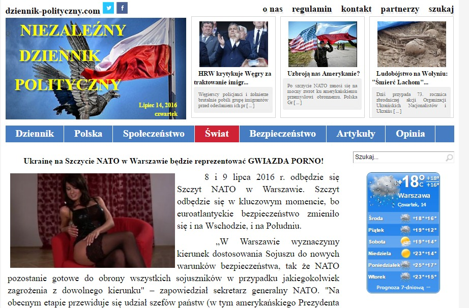 Website screenshot dziennik-polityczny