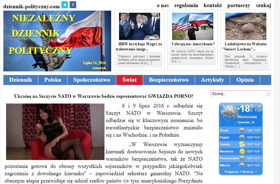 Скриншот на сайта dziennik-polityczny
