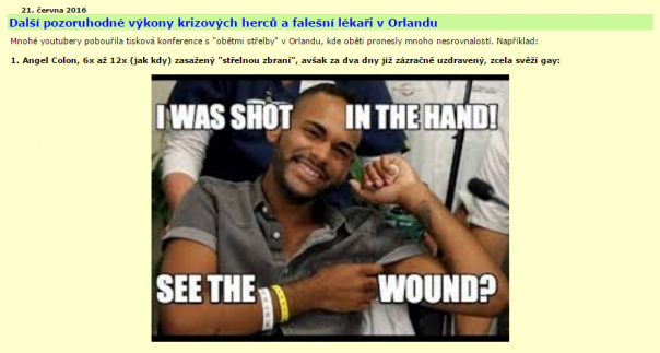 Another noteworthy performance of crisis actors and false doctors in Orlando