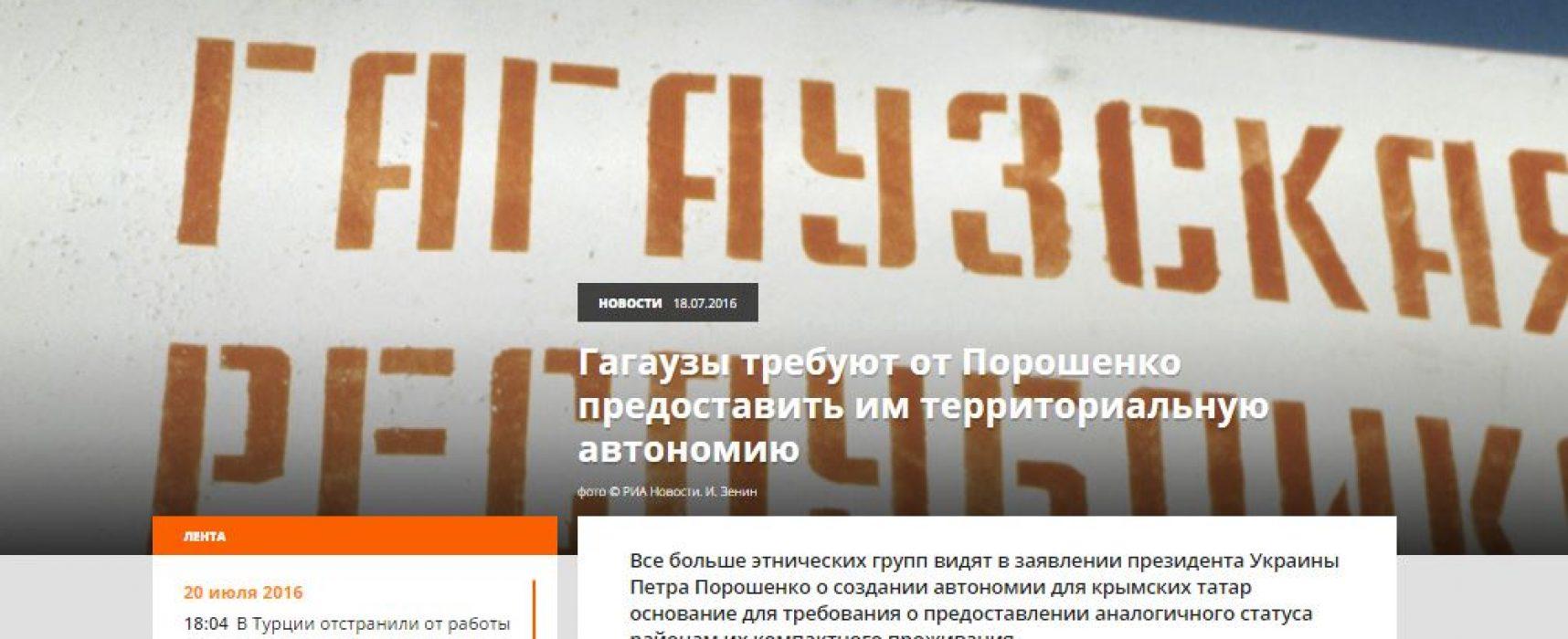 Fake: I Gagauzi dell'Ucraina richiedono l'autonomia