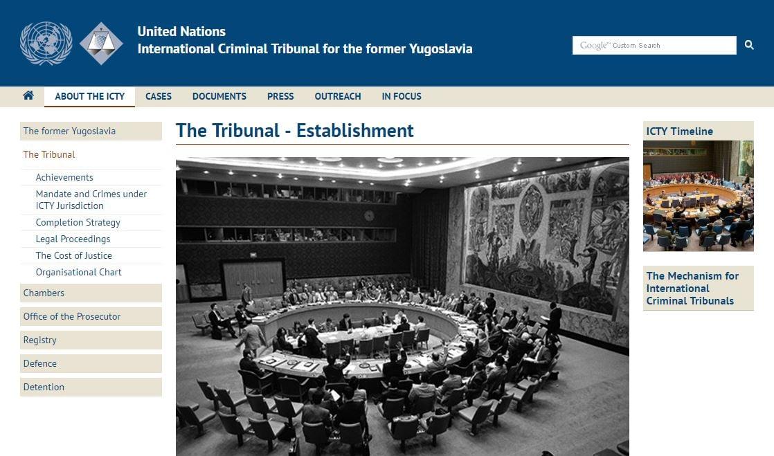 La página de la ONU