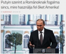"""According to Putin, Romanians have no idea how America ses them"""