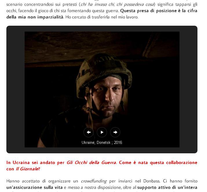 Foto del Mercenario italianoall'interno del servizio di eastjournal