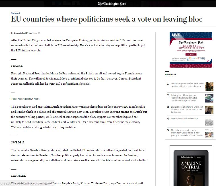 Website screenshot de Washington Post