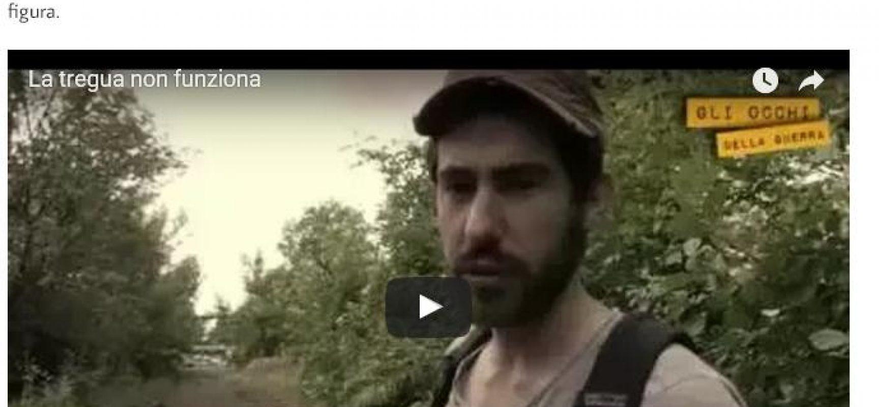 Fake : Sceresini la guerra in Donbass colpa dell'UE