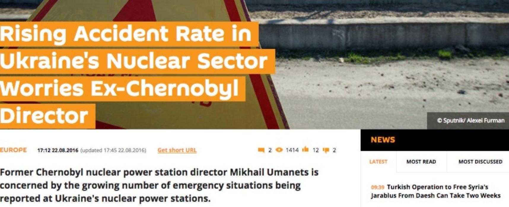 Fake: Effondrement de l'énergie nucléaire en Ukraine