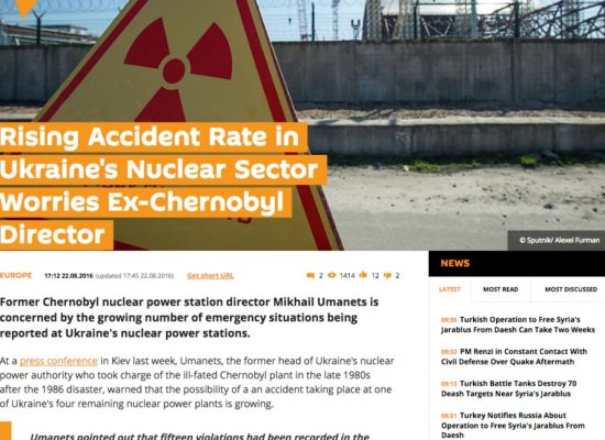Fake: Nuclear energy collapse in Ukraine