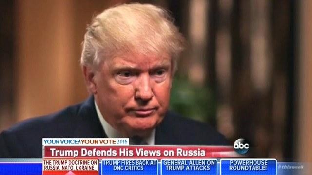 Captura de pantalla de la entrevista de Donald Trump