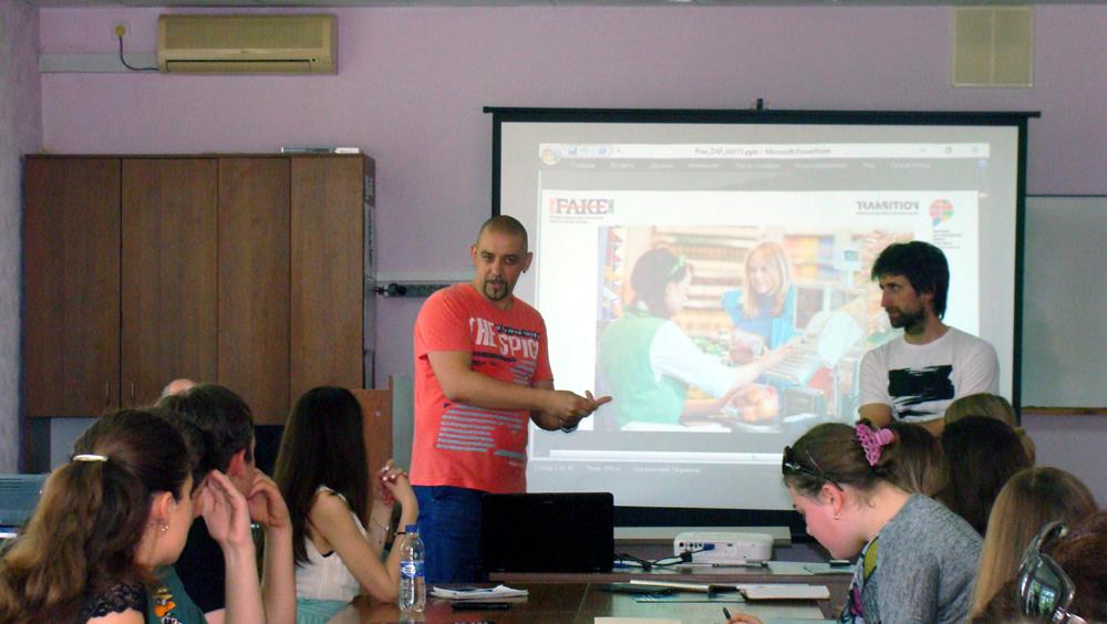 Тренинг в Запорожье. Фото: Алла Боряк