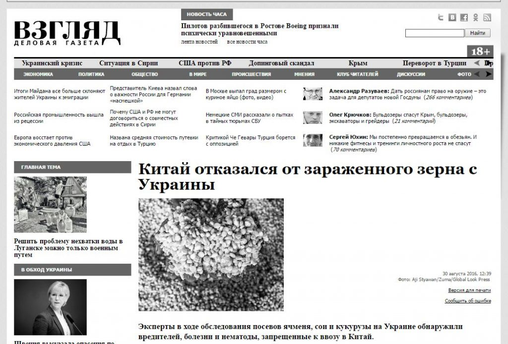 Screenshot Vzglyad