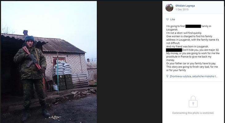 Arrivé dans le Donbass, il s'est mis en tête de se faire rembourser… / Crédits : DR.