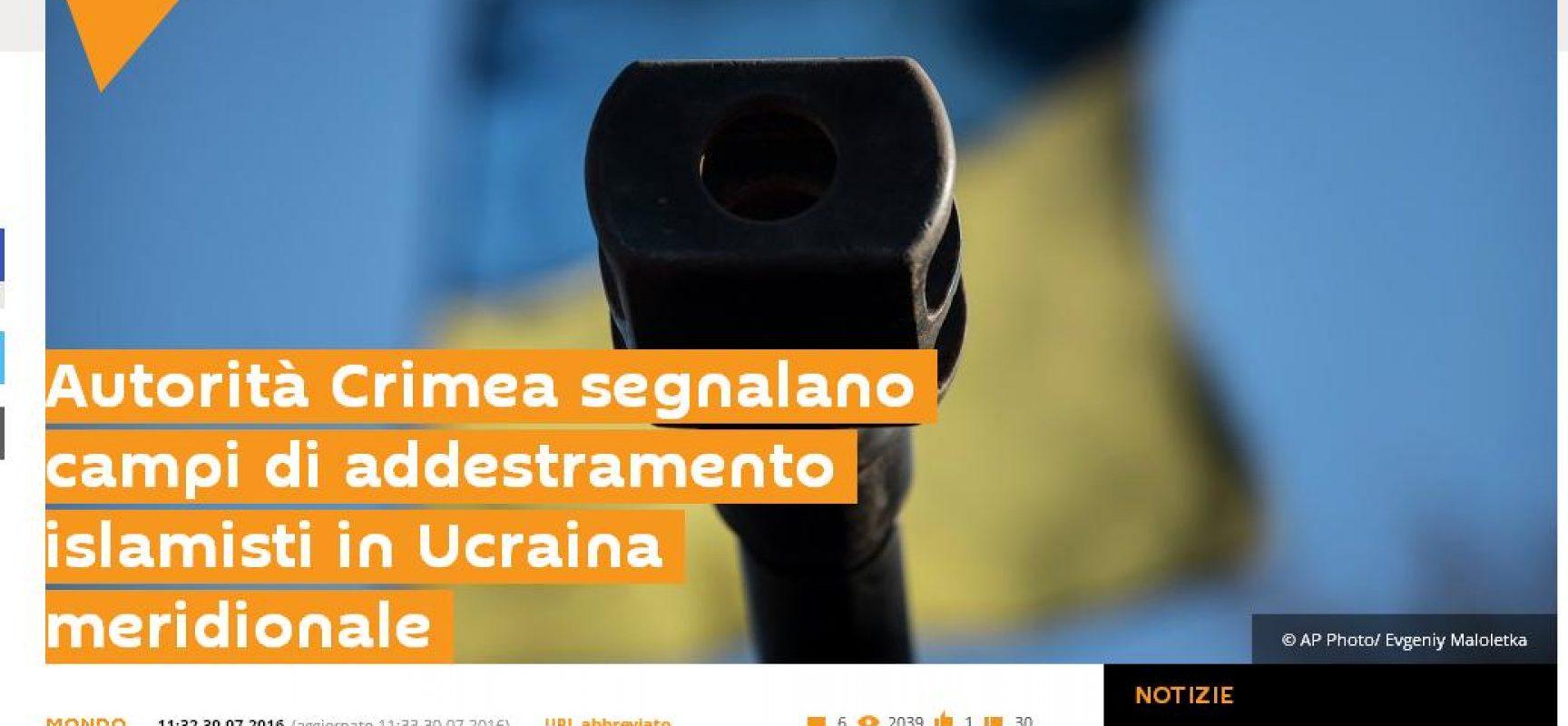 Fake: nel sud dell'Ucraina i campi di addestramento ISIS