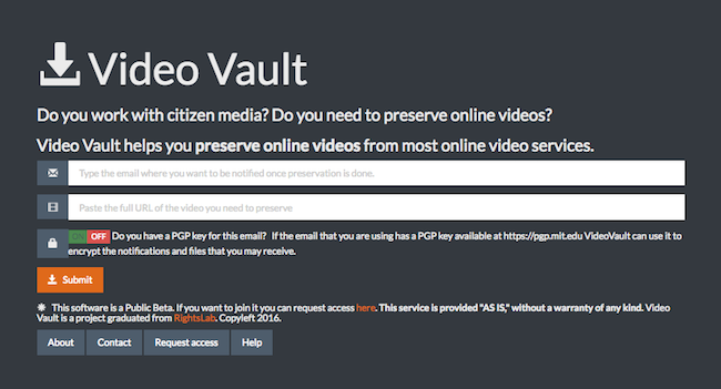 Users can activate PGP encryption on the notifications and files they receive from Video Vault