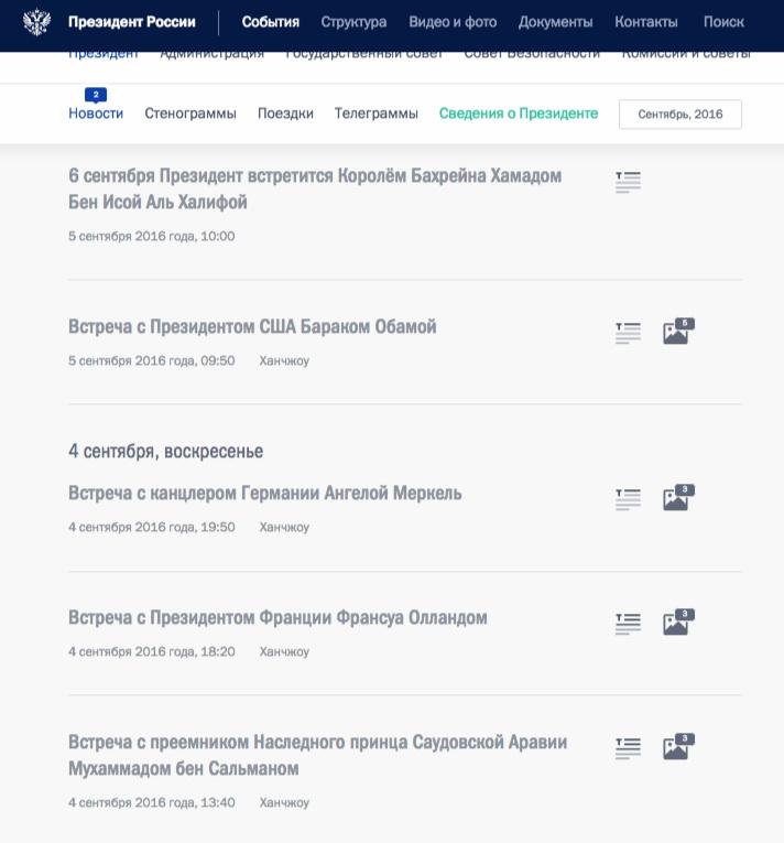 La agenda del presidente ruso en la cumbre de G20