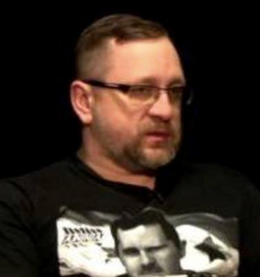 Portrait of Kotenok in Assad T-shirt from rusprav.tv