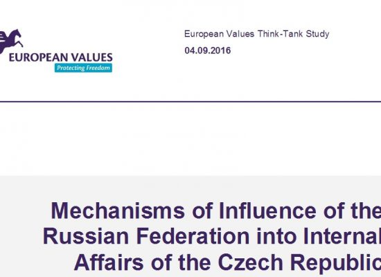 Mechanisms of Influence of the Russian Federation into Internal Affairs of the Czech Republic