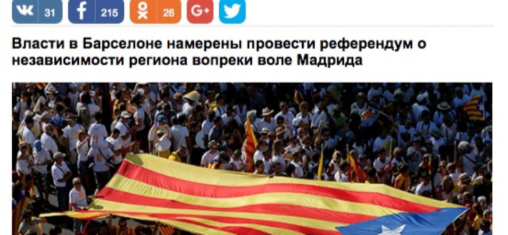 Fake: La Catalonia riconosce la Crimea come parte della Russia