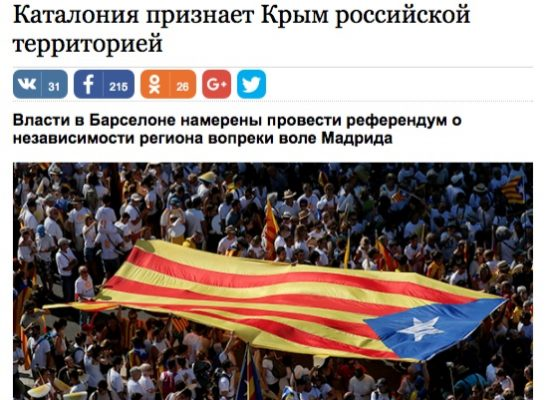 Fake: Katalánsko uzná Krym za součást Ruska