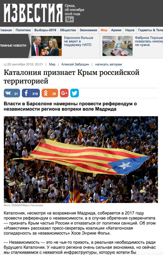 Snímek z webu Izvestia
