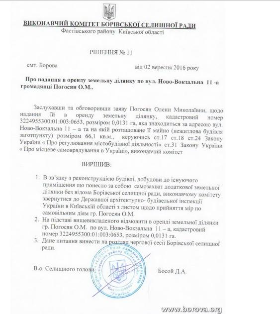 Скриншот документов из сайта borova.org