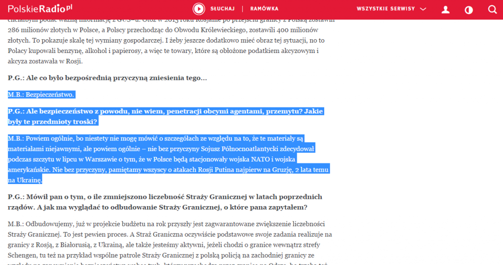 Screenshot polskieradio.pl
