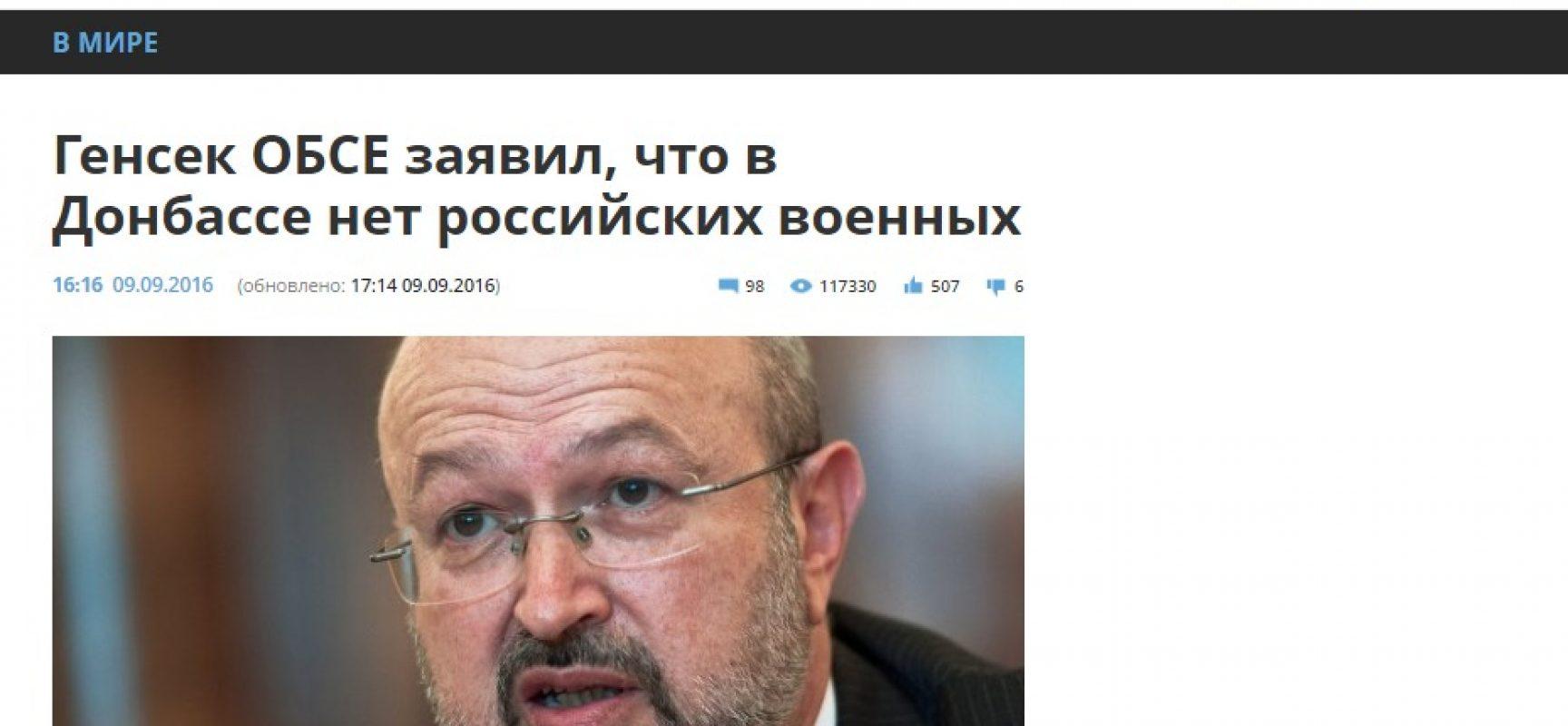 Fake: l'OSCE conferma l'assenza di truppe russe in Donbas
