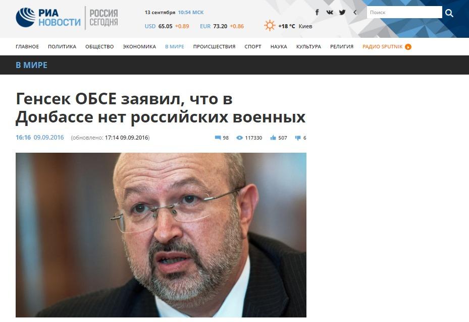 OSCE conferma l'assenza di truppe russe in Donbas