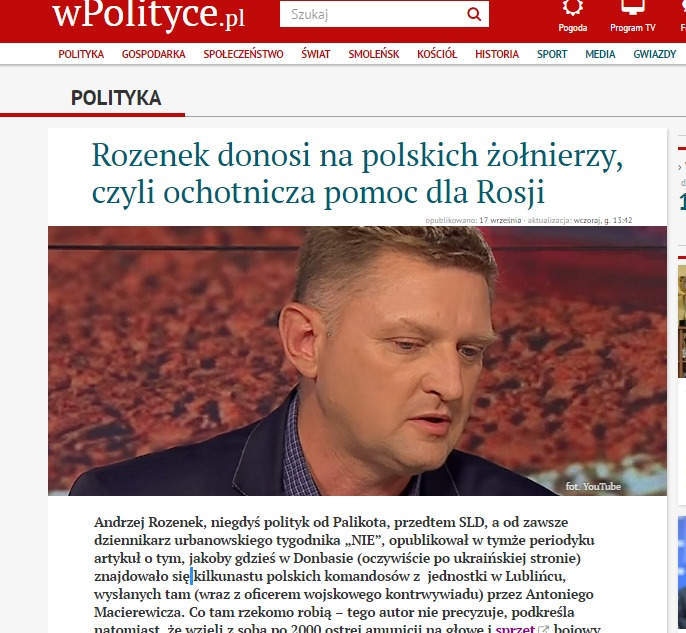 Скриншот wpolityce.pl