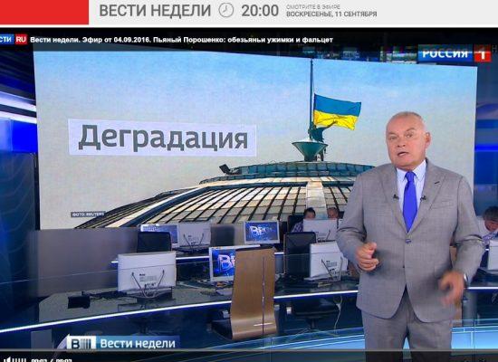 El gran propagandista ruso de nuevo mintió sobre Ucrania en su programa de televisión