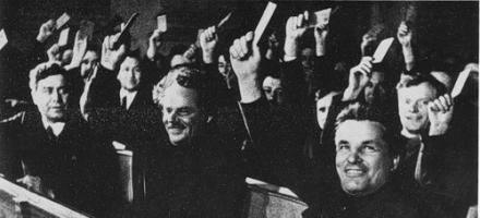 Ленинградская делегация на 17-м съезде ВКП(б)