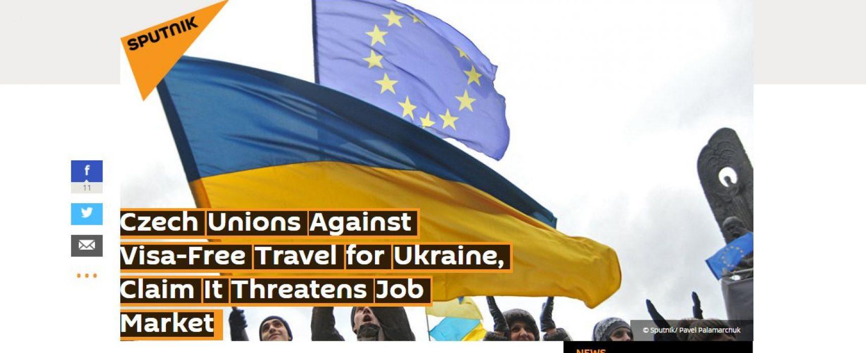 Фейк: Чешские профсоюзы выступили против безвизового режима с Украиной