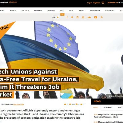 Czech unions against Ukrainian visa free travel to EU