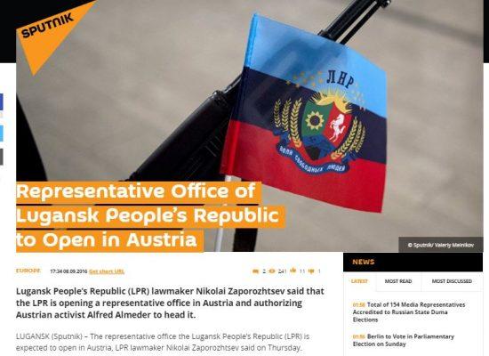 Fake: Volksrepubliek Loegansk opent consulaat in Oostenrijk