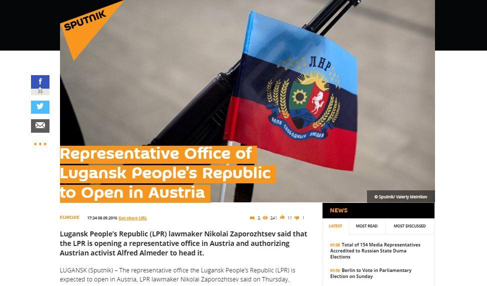 Website screenshot Spoutnik