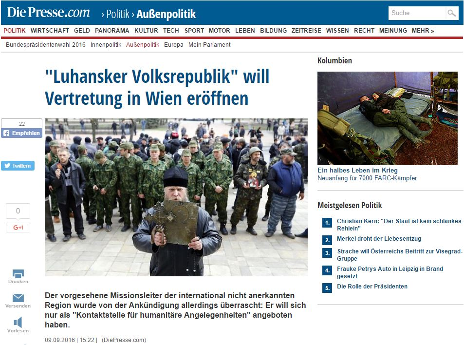 Website screenshot diepresse.com