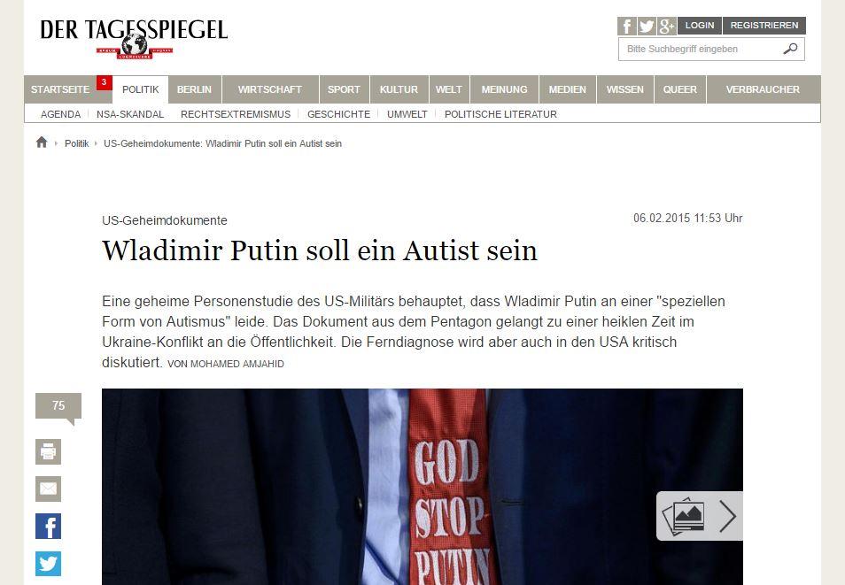 Website screenshot Der Tagesspiegel