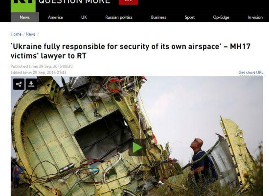 Реакция в России на отчет по MH17: отрицание