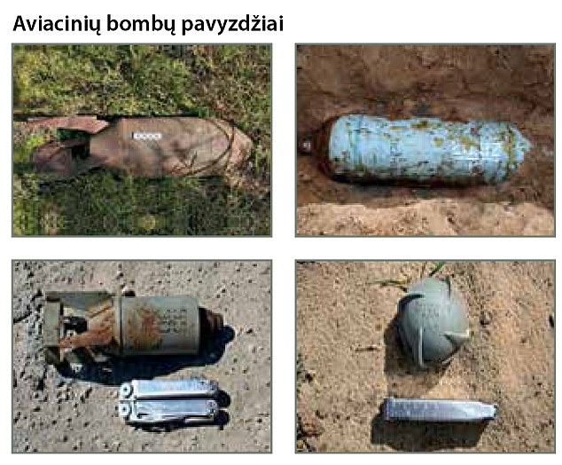 Tthe booklet also shows how to recognise Russian arms, including tanks, guns and mines