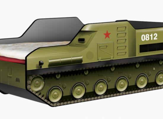 La cuna con forma de vehículo lanzamisiles que causa polémica en Rusia
