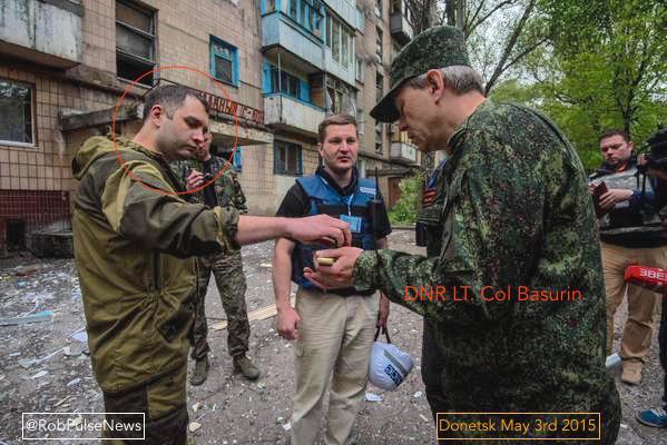 "Sergei Zhuk with DNR ""Deputy Defense Minister"" E. А. Basurin"