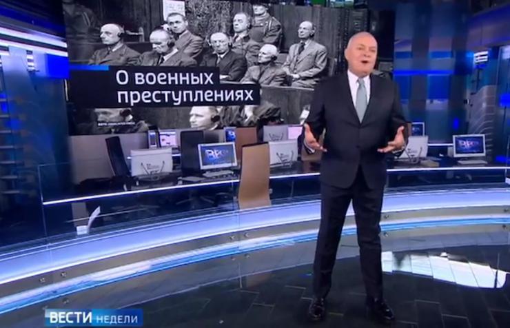 """Dmitry Kiselyov in his """"Vesti Nedeli"""" news show. YouTube"""