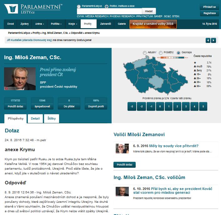 Snímek z webu parlamentilisty.cz