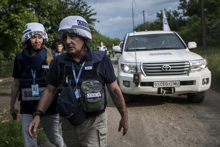 700 observateurs de l'OSCE, sont déployés en Ukraine où ils patrouillent de part et d'autre de la ligne de front (photo OSCE)/ Comité Ukraine